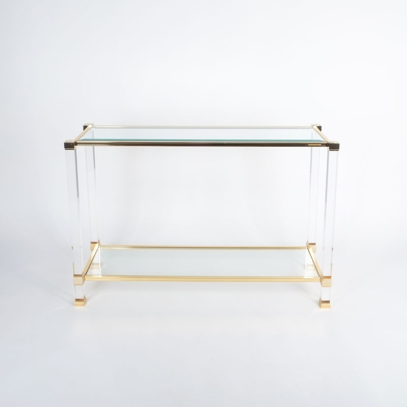 PIerre Vandel lucite console table_01