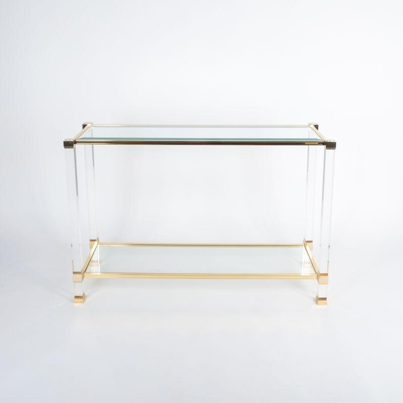 PIerre Vandel lucite console table_01
