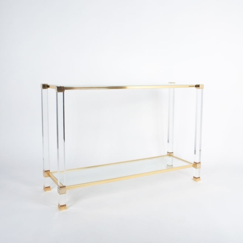 PIerre Vandel lucite console table_03