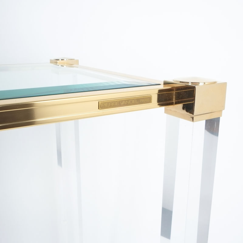 PIerre Vandel lucite console table_04