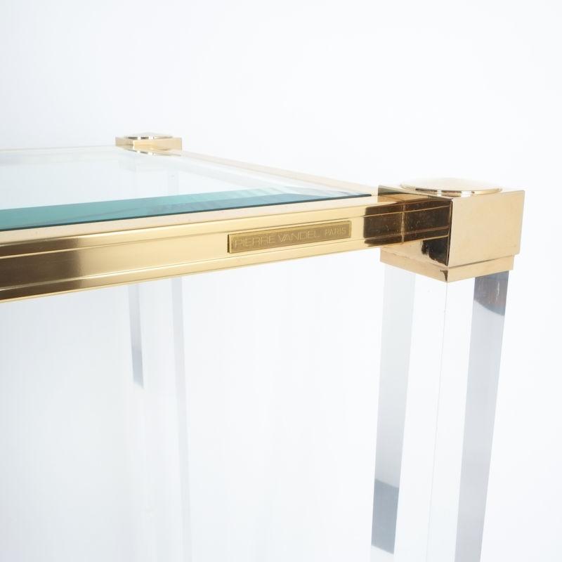 PIerre Vandel lucite console table_04