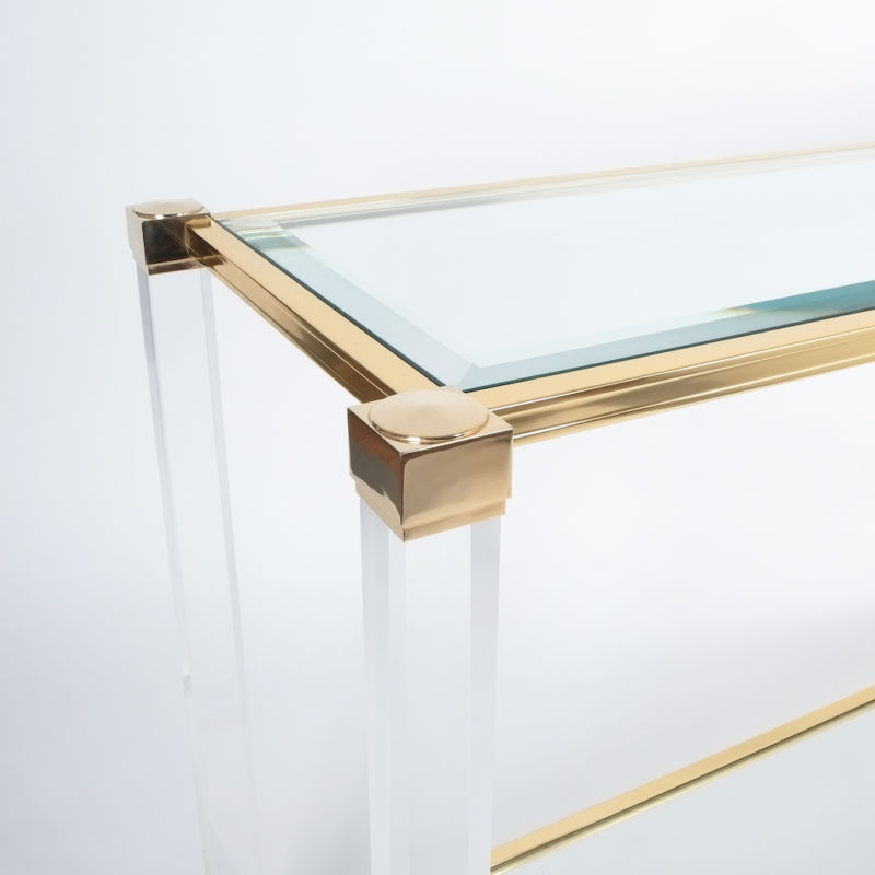 PIerre Vandel lucite console table_05