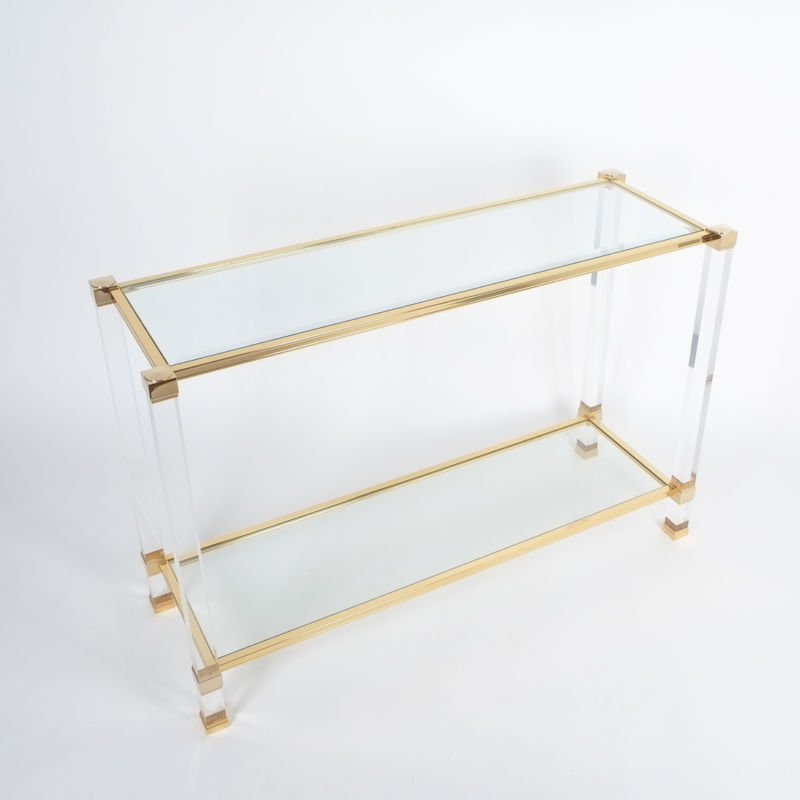 PIerre Vandel lucite console table_06