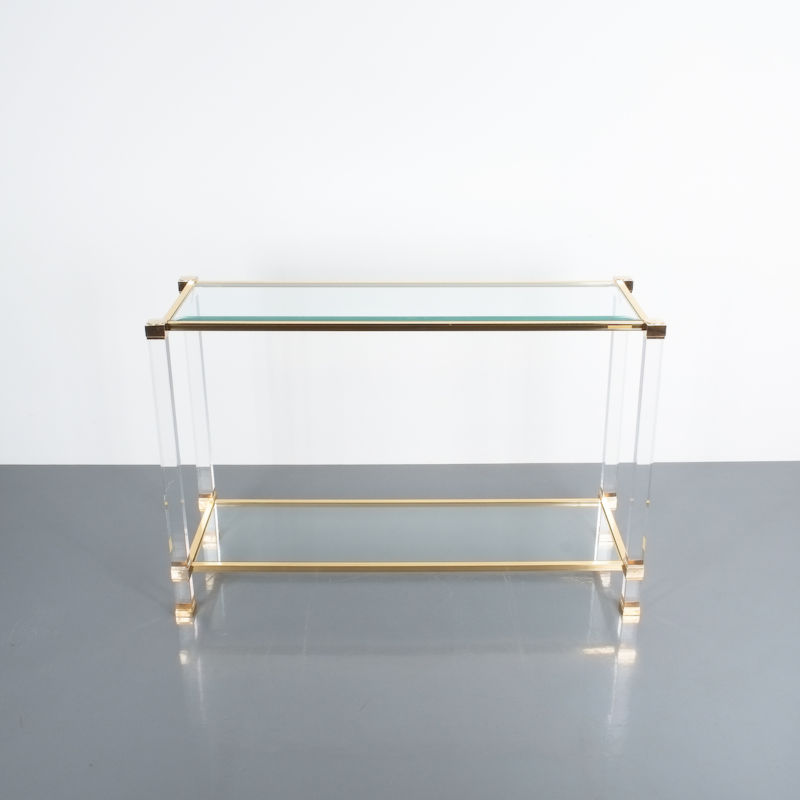PIerre Vandel lucite console table_07