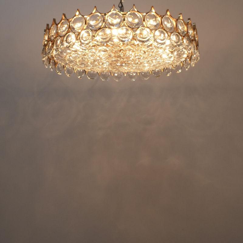 Palwa 27 inch flush mount brass glass_02