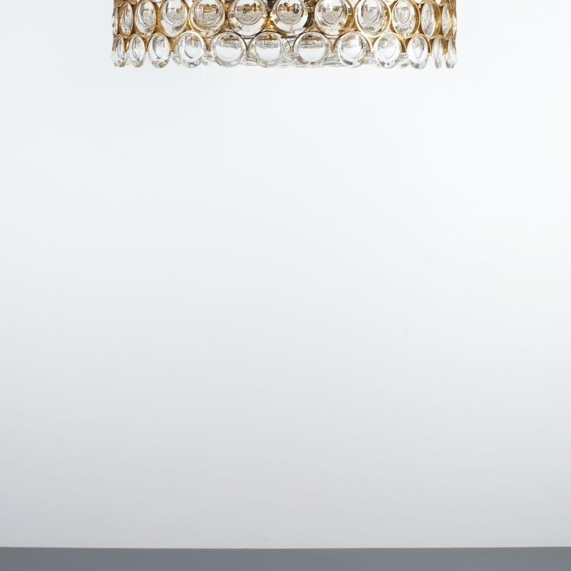 Palwa 27 inch flush mount brass glass_05