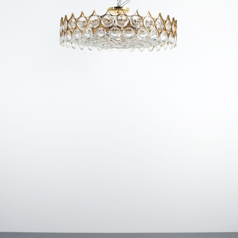 Palwa 27 inch flush mount brass glass_06