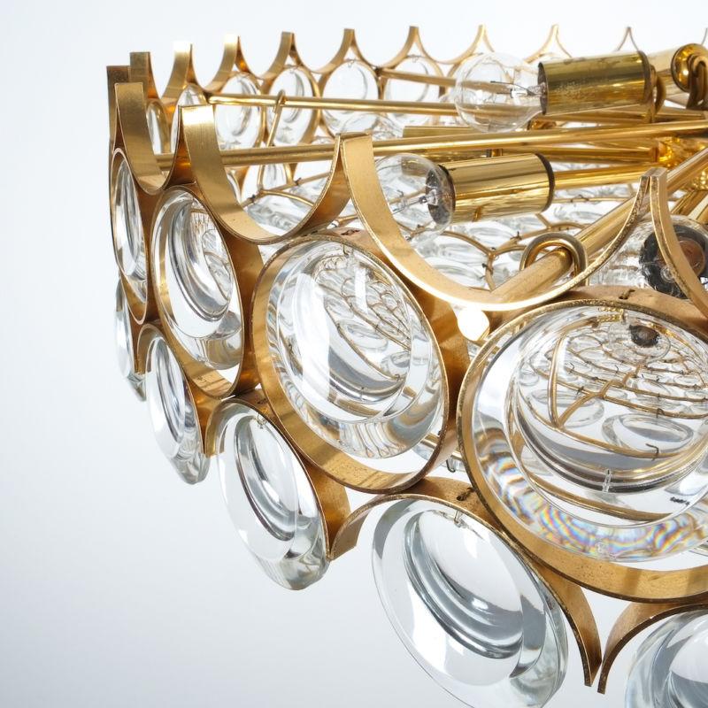 Palwa 27 inch flush mount brass glass_10