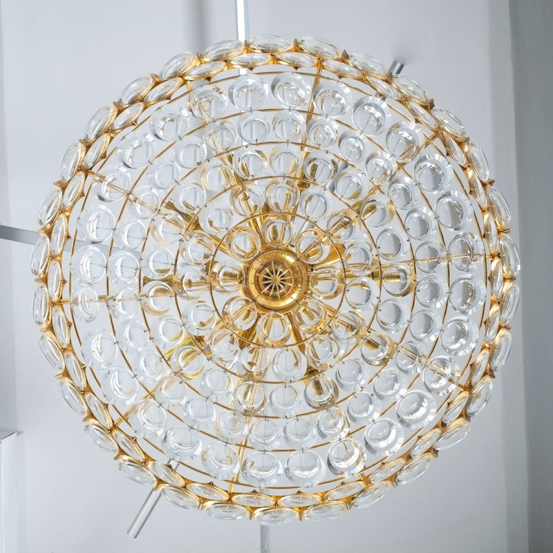 Palwa 27 inch flush mount brass glass_12