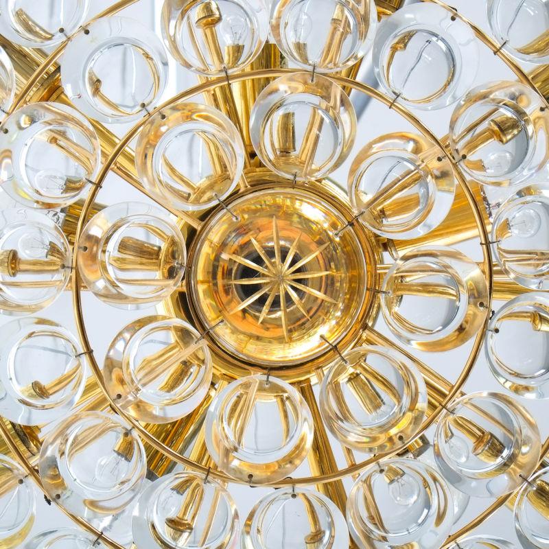 Palwa 27 inch flush mount brass glass_13