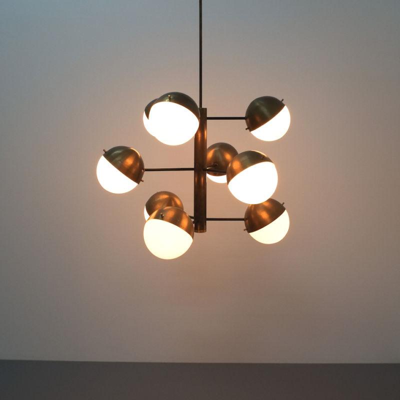 Stilnovo brass opaline chandelier_01