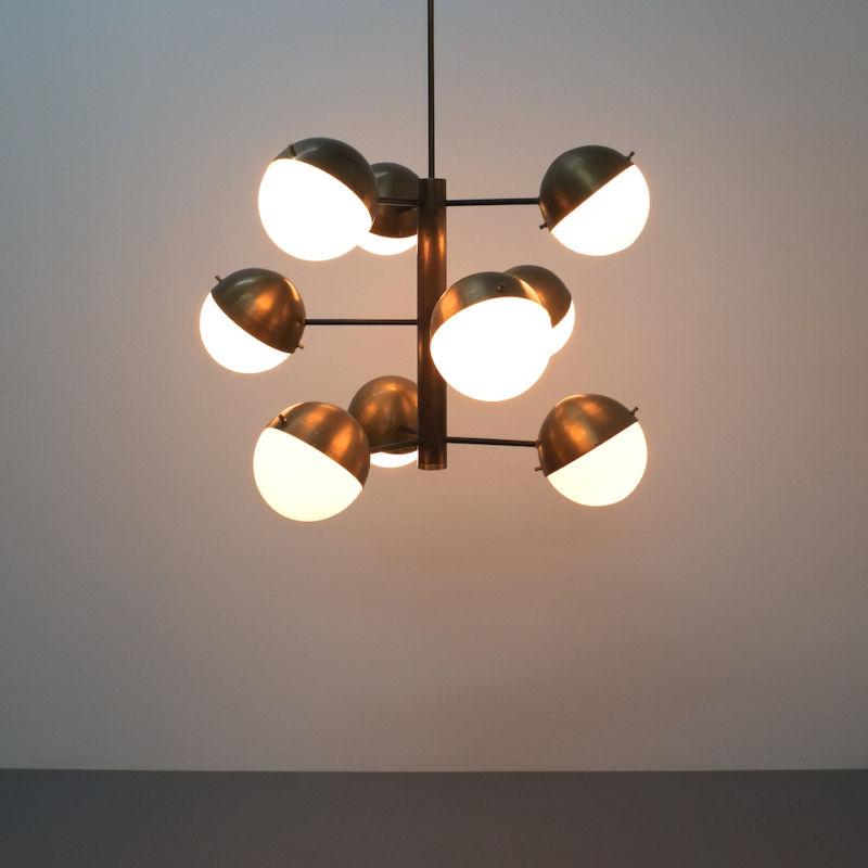 Stilnovo brass opaline chandelier_02