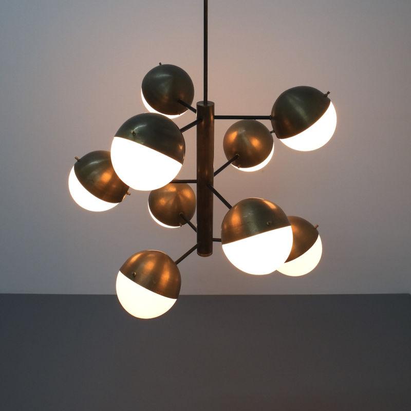 Stilnovo brass opaline chandelier_03