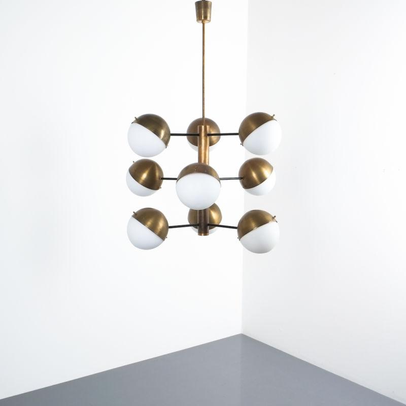 Stilnovo brass opaline chandelier_05