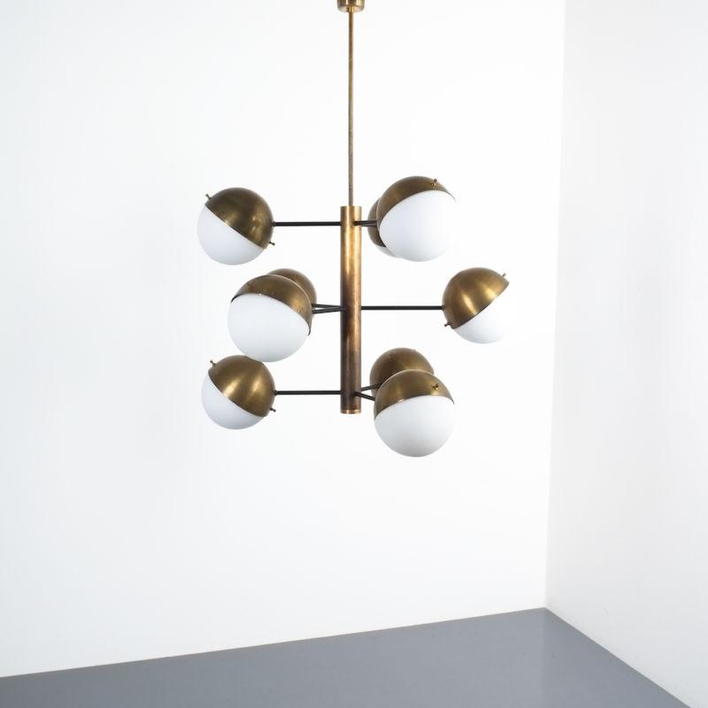 Stilnovo brass opaline chandelier_06