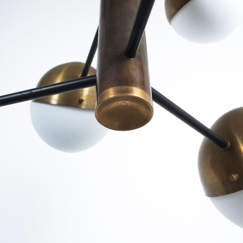 Stilnovo brass opaline chandelier_10