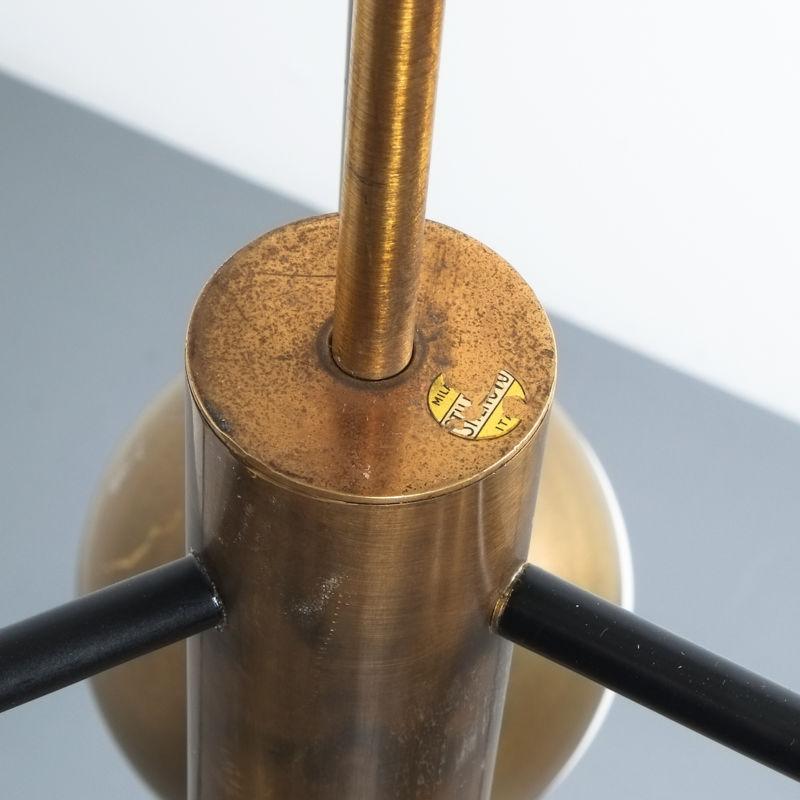 Stilnovo brass opaline chandelier_14
