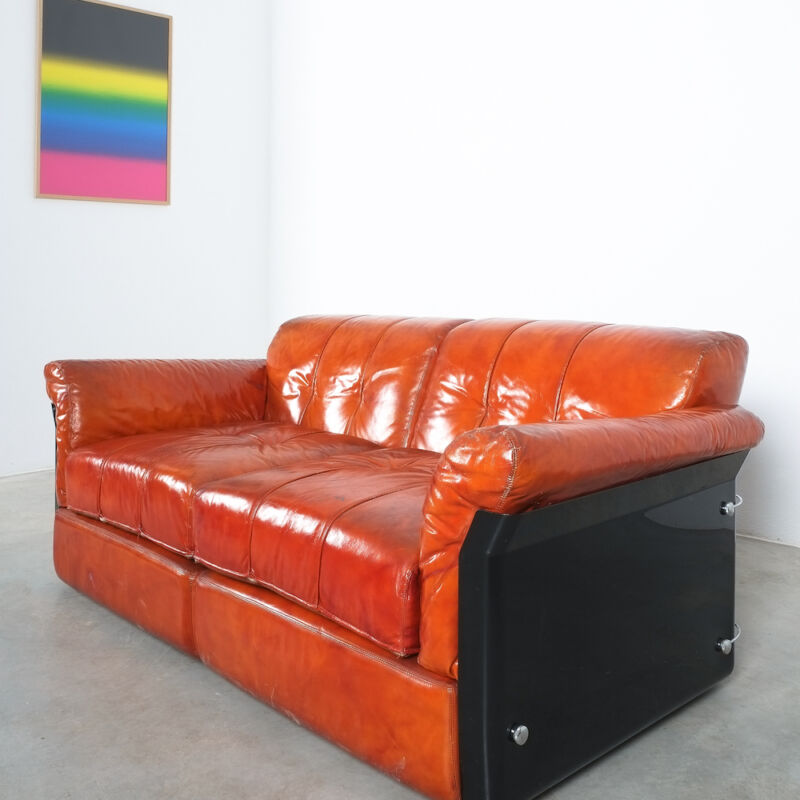 Vittorio Introini Saporiti Leather Sofa 06