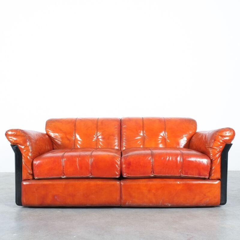 Vittorio Introini Saporiti Leather Sofa 08