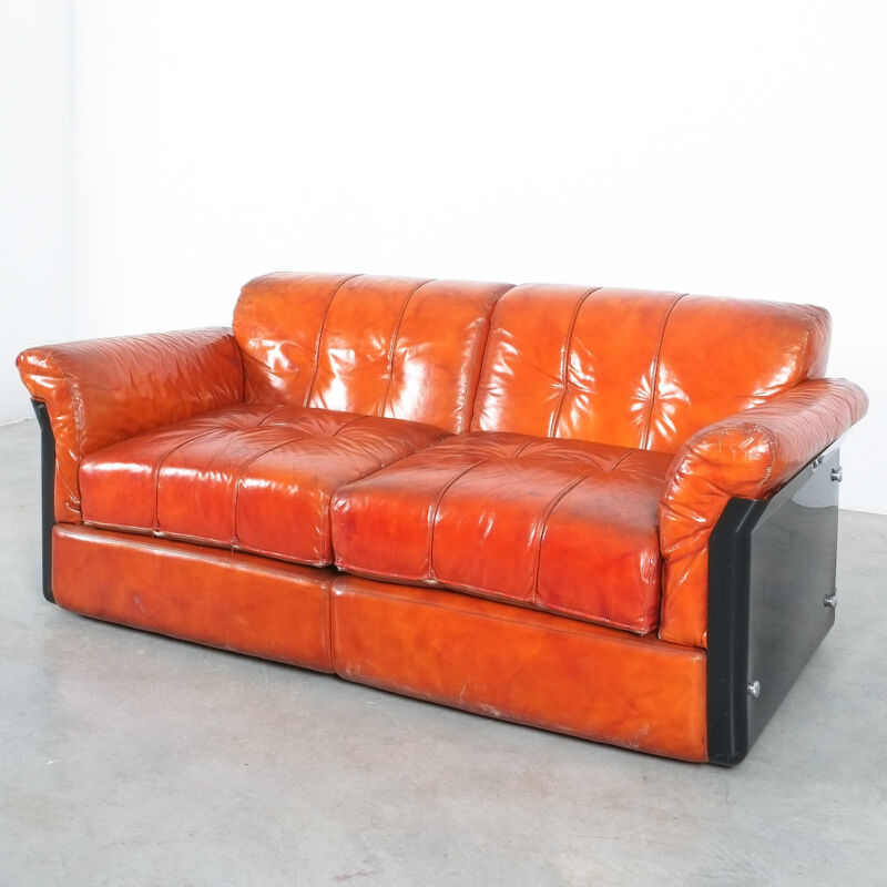 Vittorio Introini Saporiti Leather Sofa 09