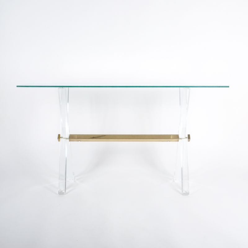 X console table lucite brass_05