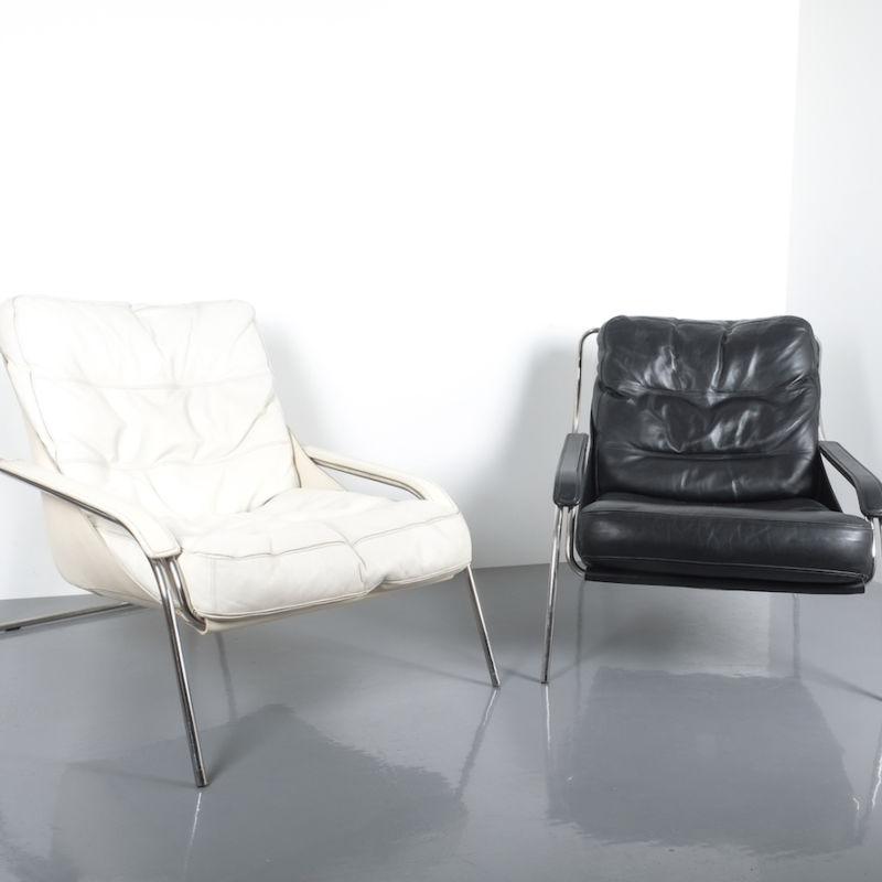 Zanuso Maggiolina Black Leather Chair_10 Kopie
