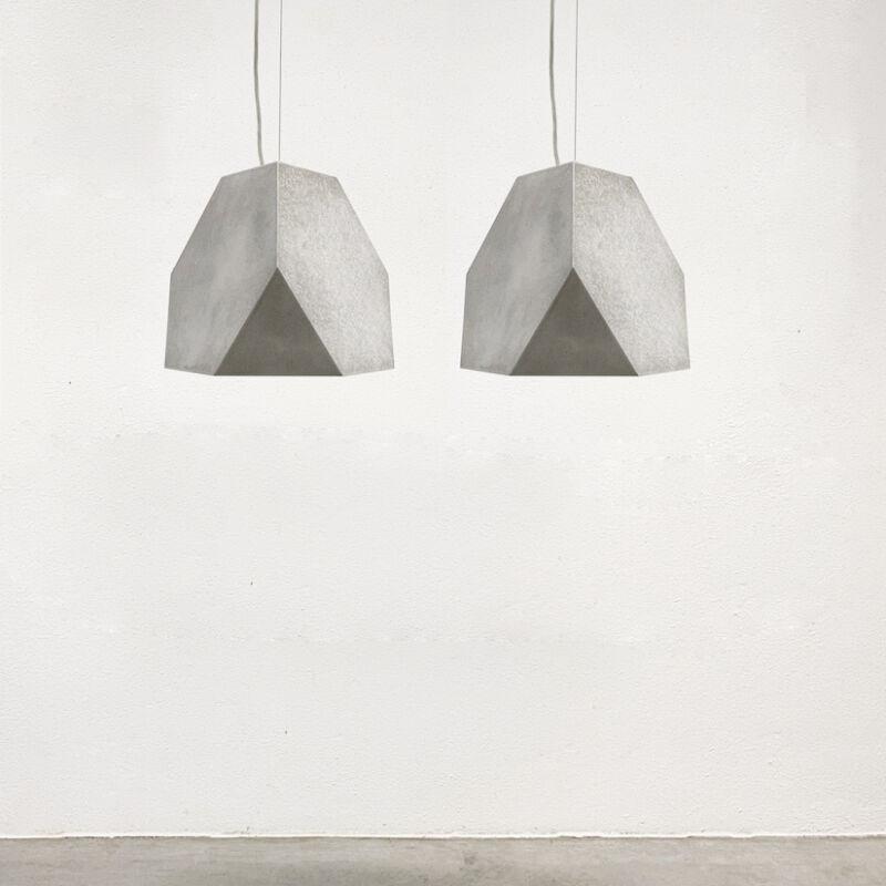 Aluminum Lamp Pair Duerer Polyeder 02