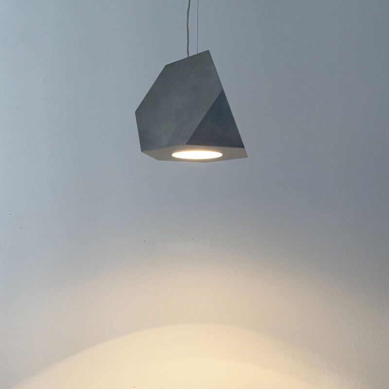 Aluminum Lamp Pair Duerer Polyeder 05