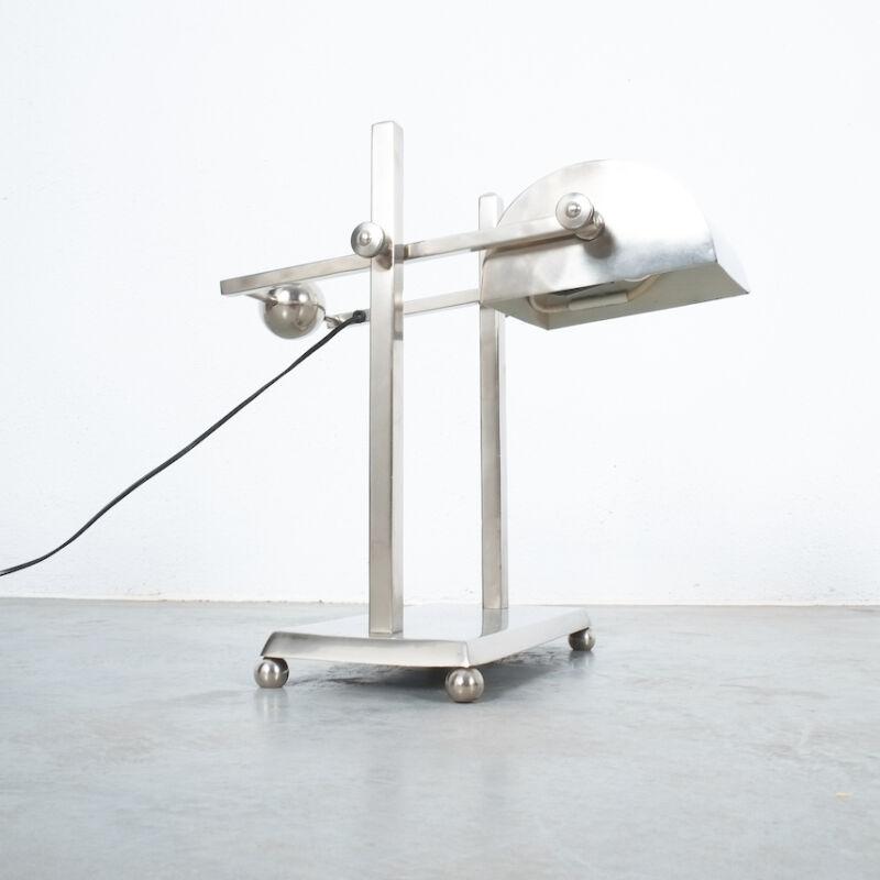 Art Deco Brass Counterweight Lamp 01