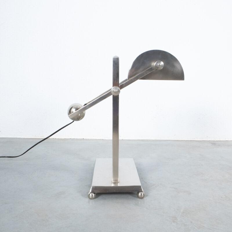 Art Deco Brass Counterweight Lamp 04