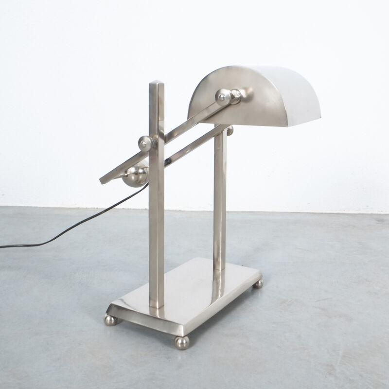 Art Deco Brass Counterweight Lamp 06