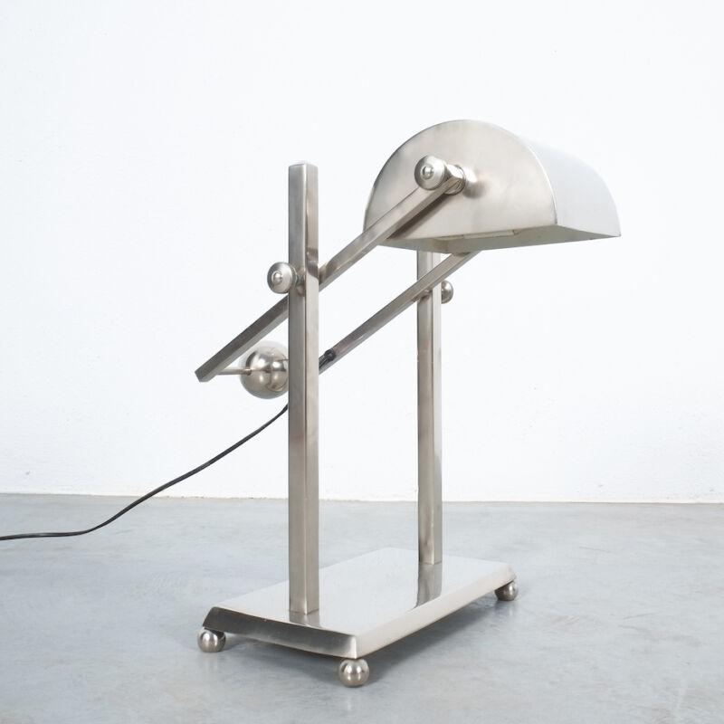 Art Deco Brass Counterweight Lamp 07