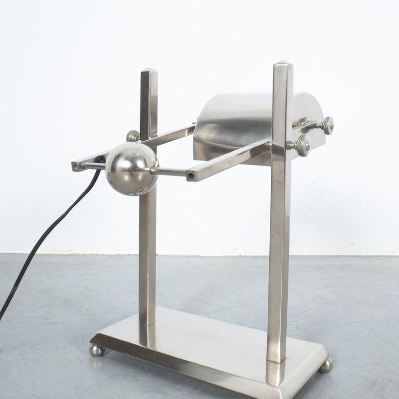 Art Deco Brass Counterweight Lamp 10