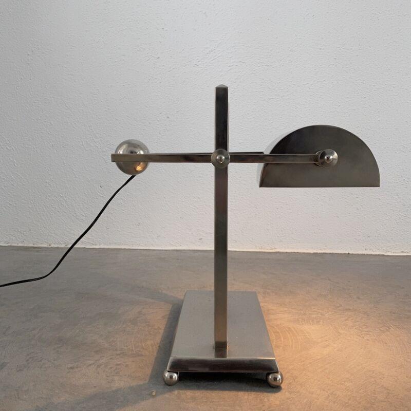 Art Deco Brass Counterweight Lamp 13