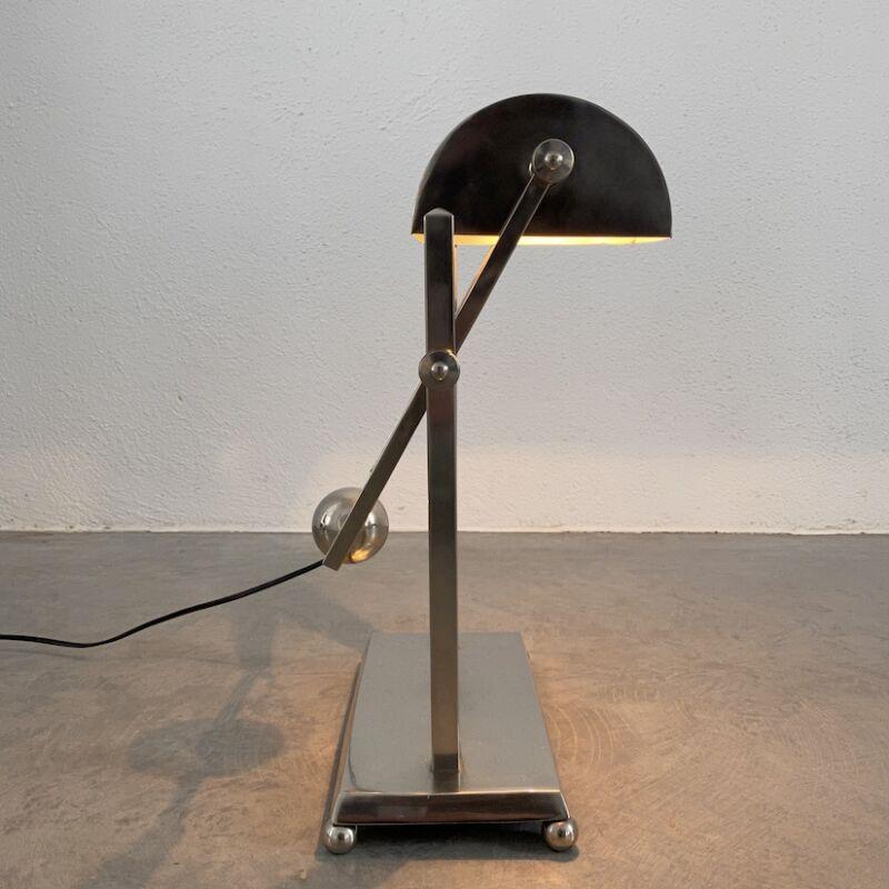 Art Deco Brass Counterweight Lamp 14