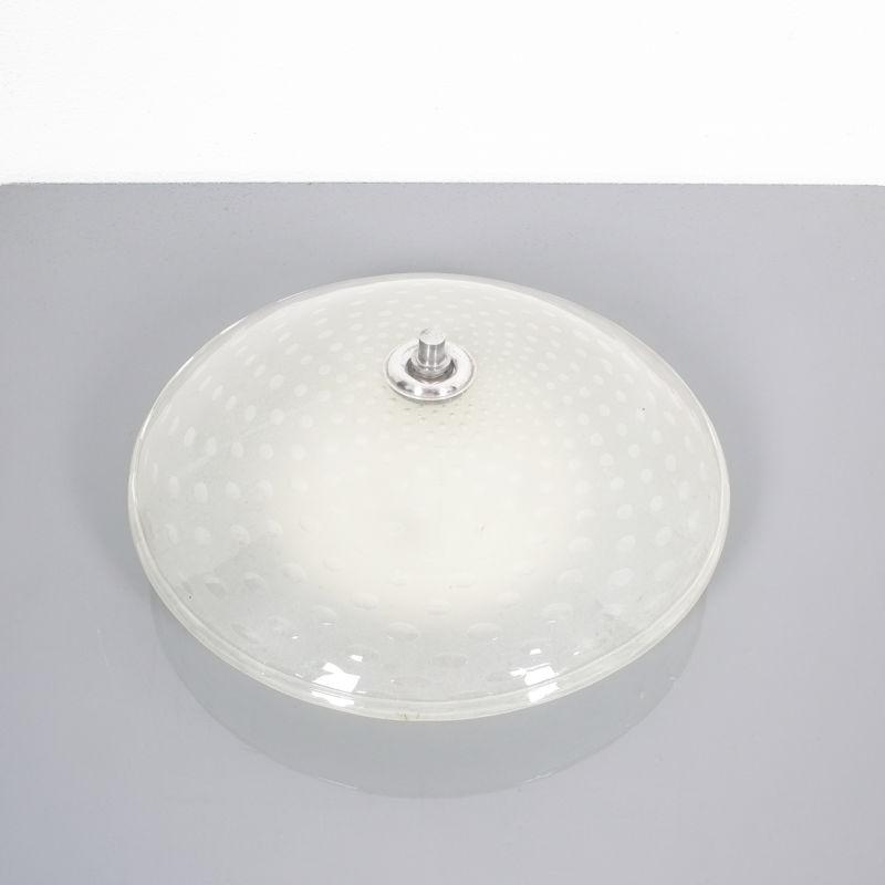 Art Deco Flush Mount Italy Glass 01