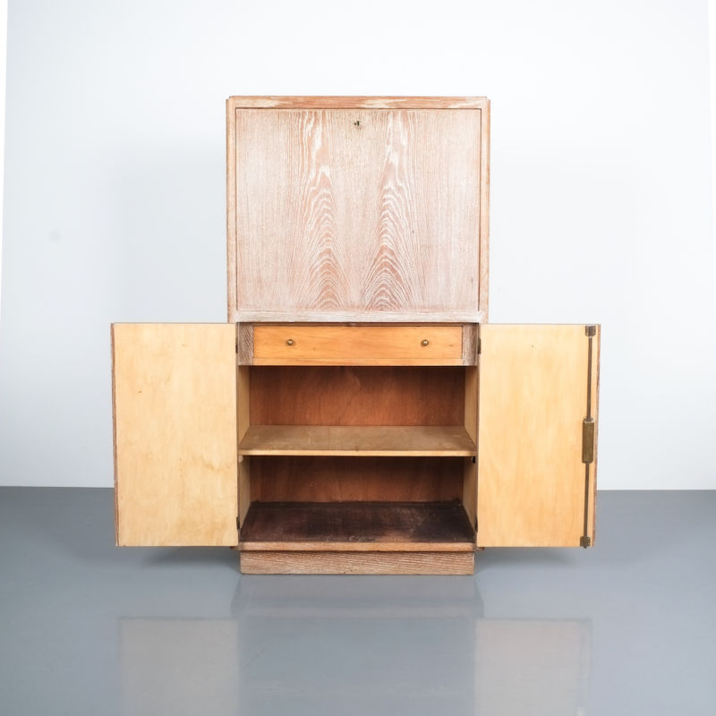 Art Deco Secretary Ceruse Oak 04