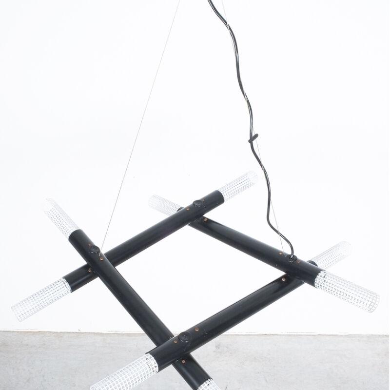Atomic Postmodern Black Chandelier 01