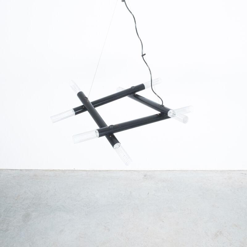Atomic Postmodern Black Chandelier 05