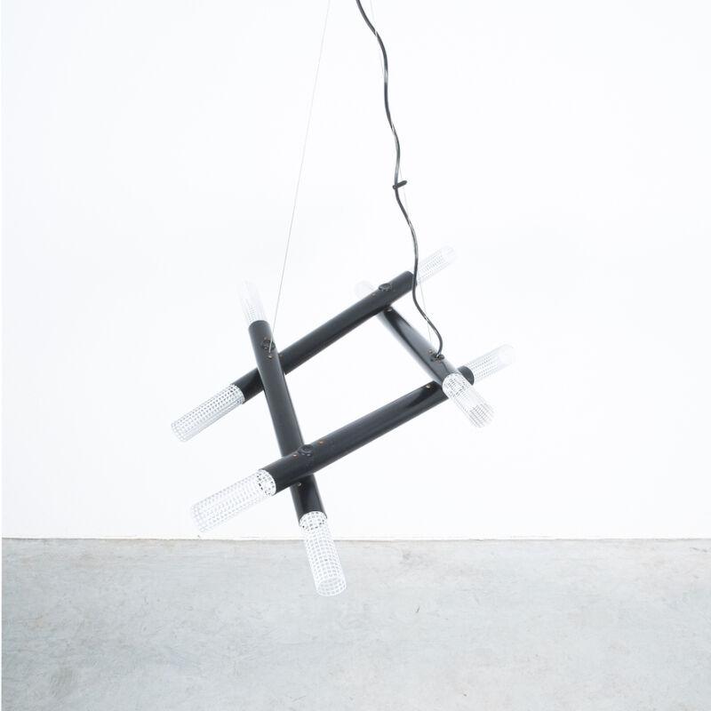 Atomic Postmodern Black Chandelier 06