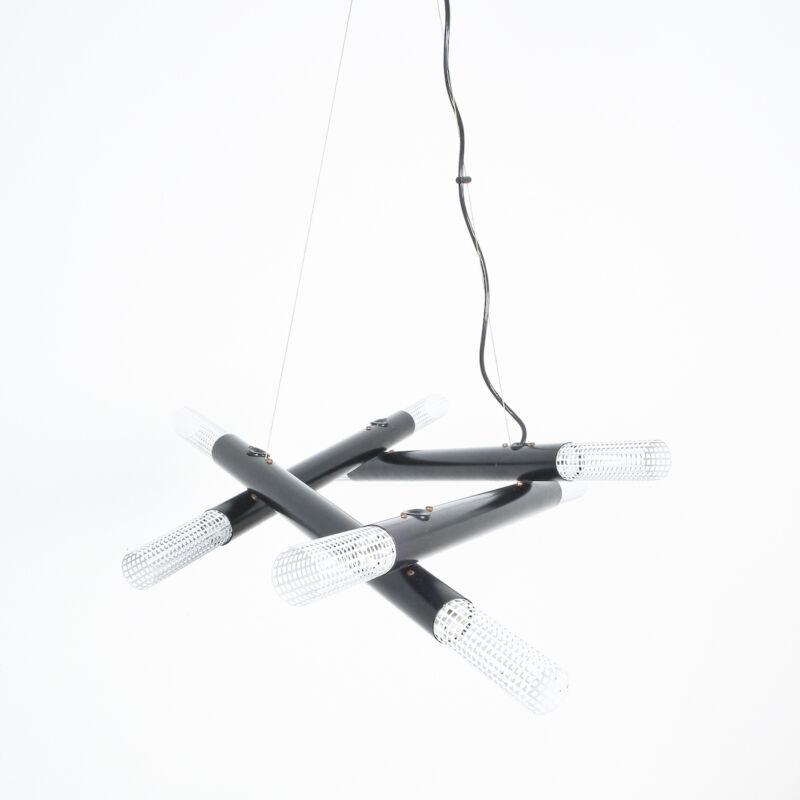 Atomic Postmodern Black Chandelier 07