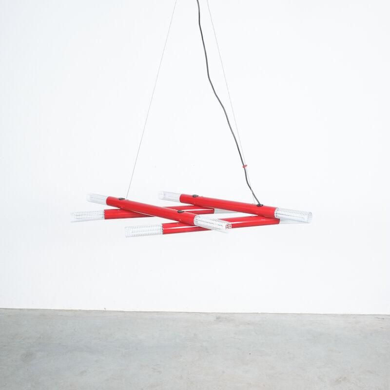 Atomic Postmodern Red Chandelier 11