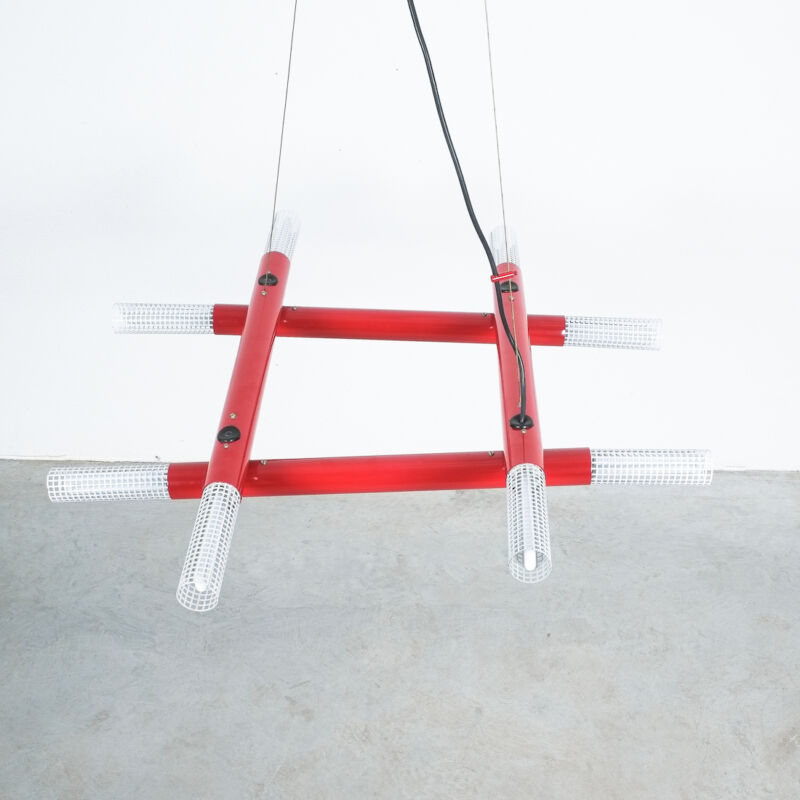 Atomic Postmodern Red Chandelier 13