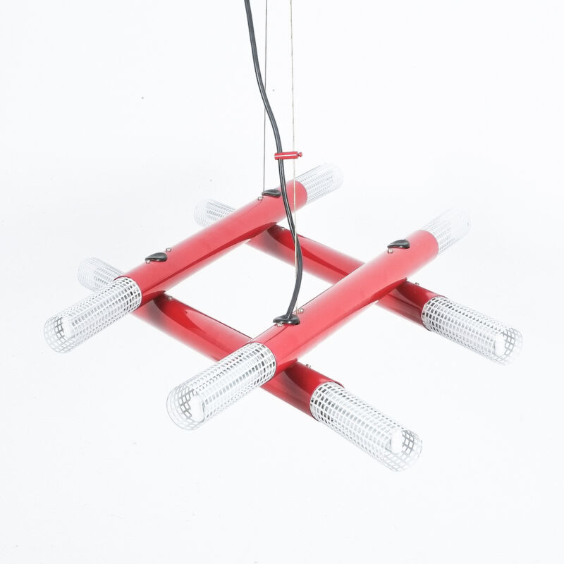 Atomic Postmodern Red Chandelier 15