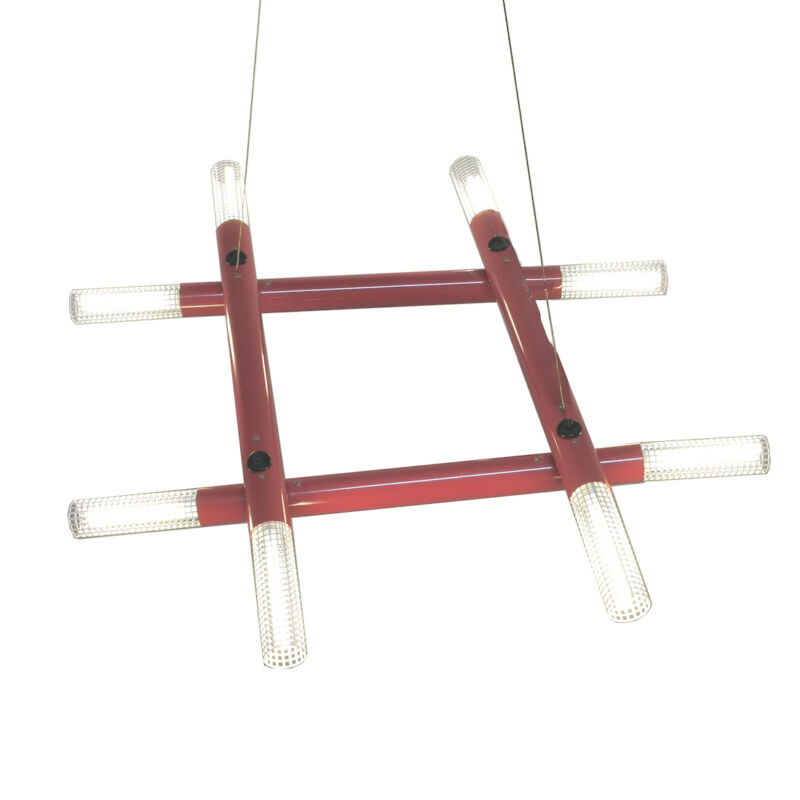 Atomic Postmodern Red Chandelier 16