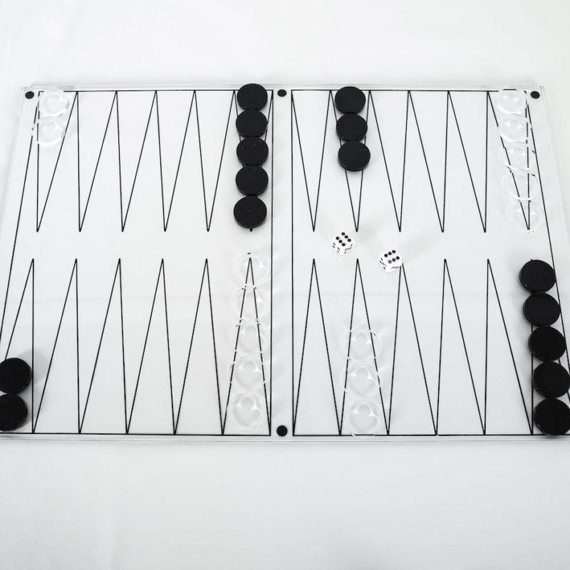 Backgammon Lucite Game 03