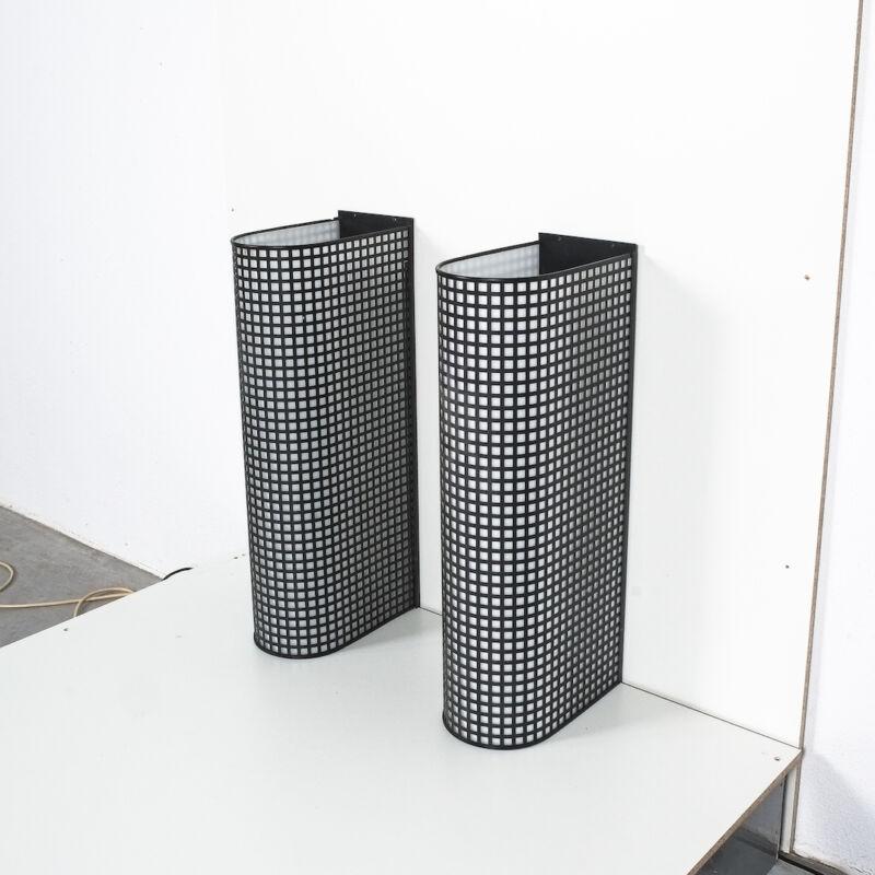 Black Wire Mesh Grid Post Modern Lamp 01