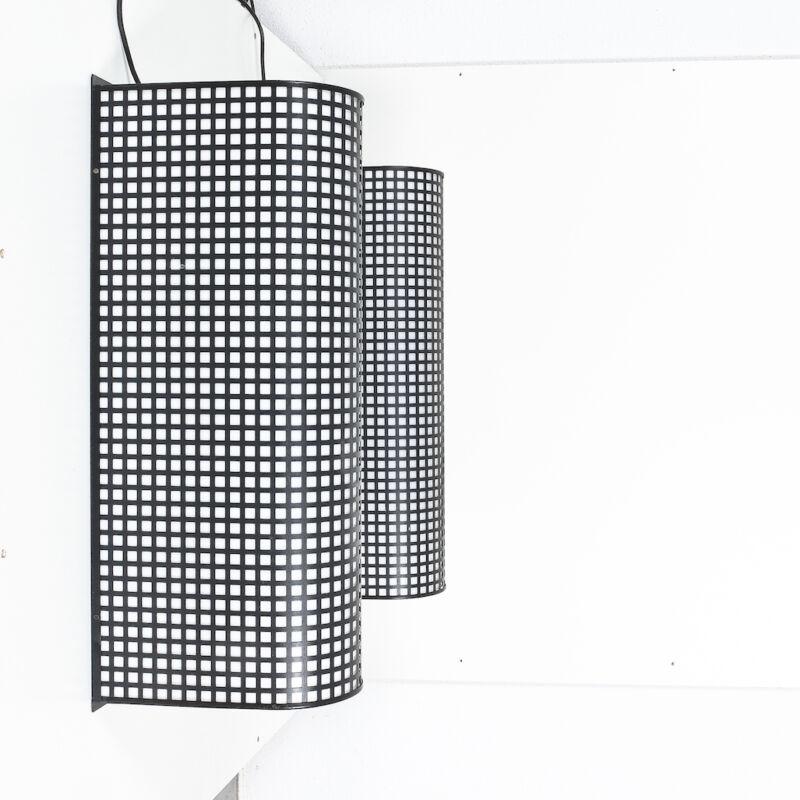 Black Wire Mesh Grid Post Modern Lamp 02
