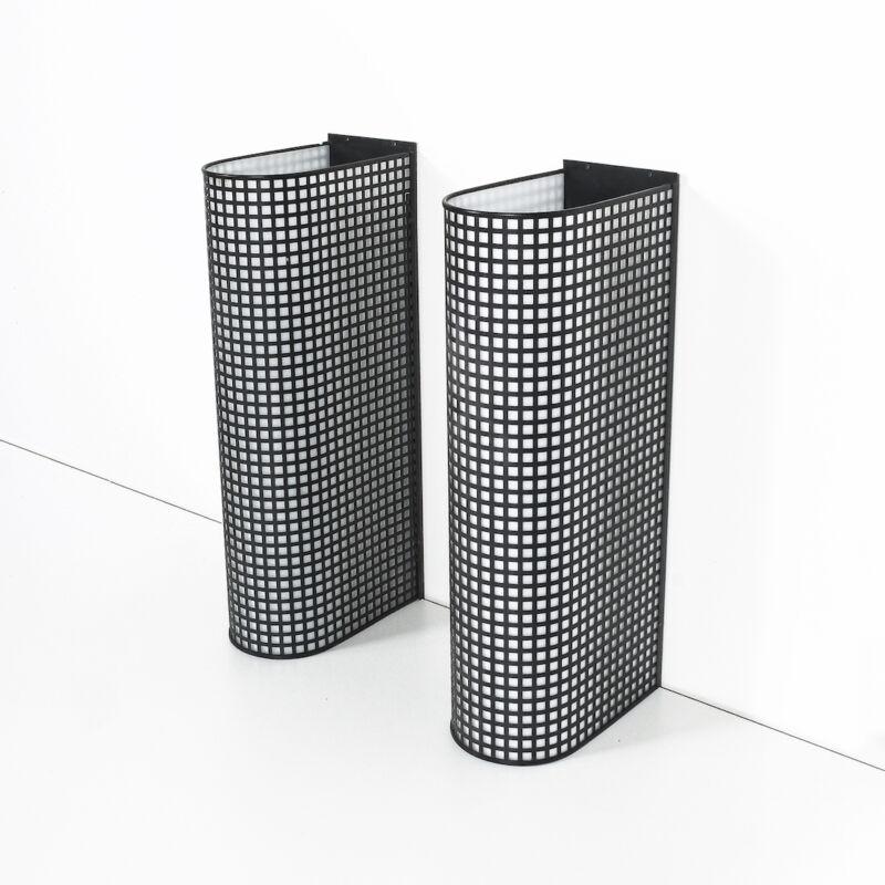 Black Wire Mesh Grid Post Modern Lamp 09