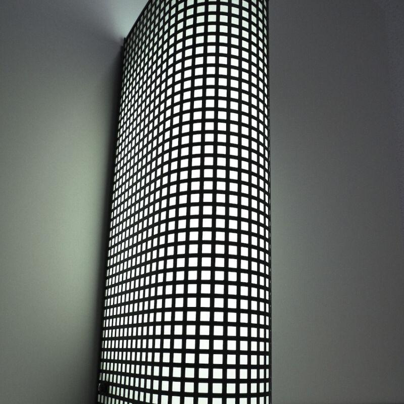 Black Wire Mesh Grid Post Modern Lamp 11